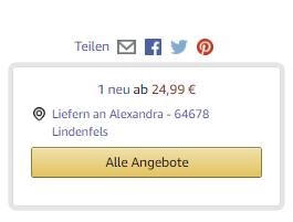 Amazon-Verkaufsbutton bei nicht-Powersellern.