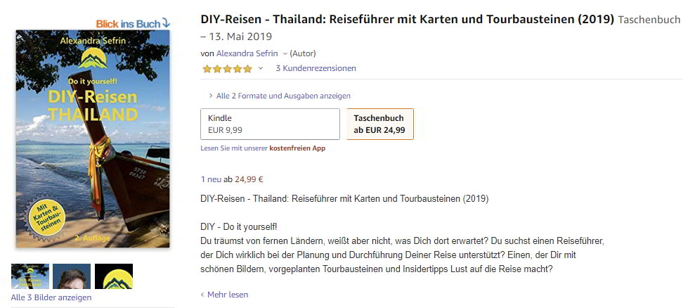 DIY-Reisen-Thailand-2019 bei Amazon