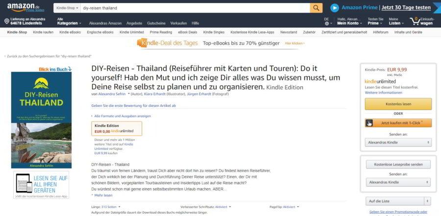 DIY-Reisen-Thailand bei Amazon