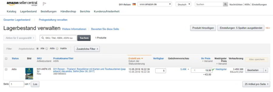DIY-Reisen-Thailand bei Amazon Seller Central