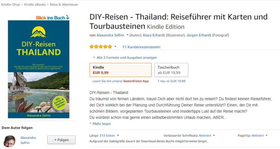 DIY-Reisen-Thailand bei Amazon mit Verknüpfung